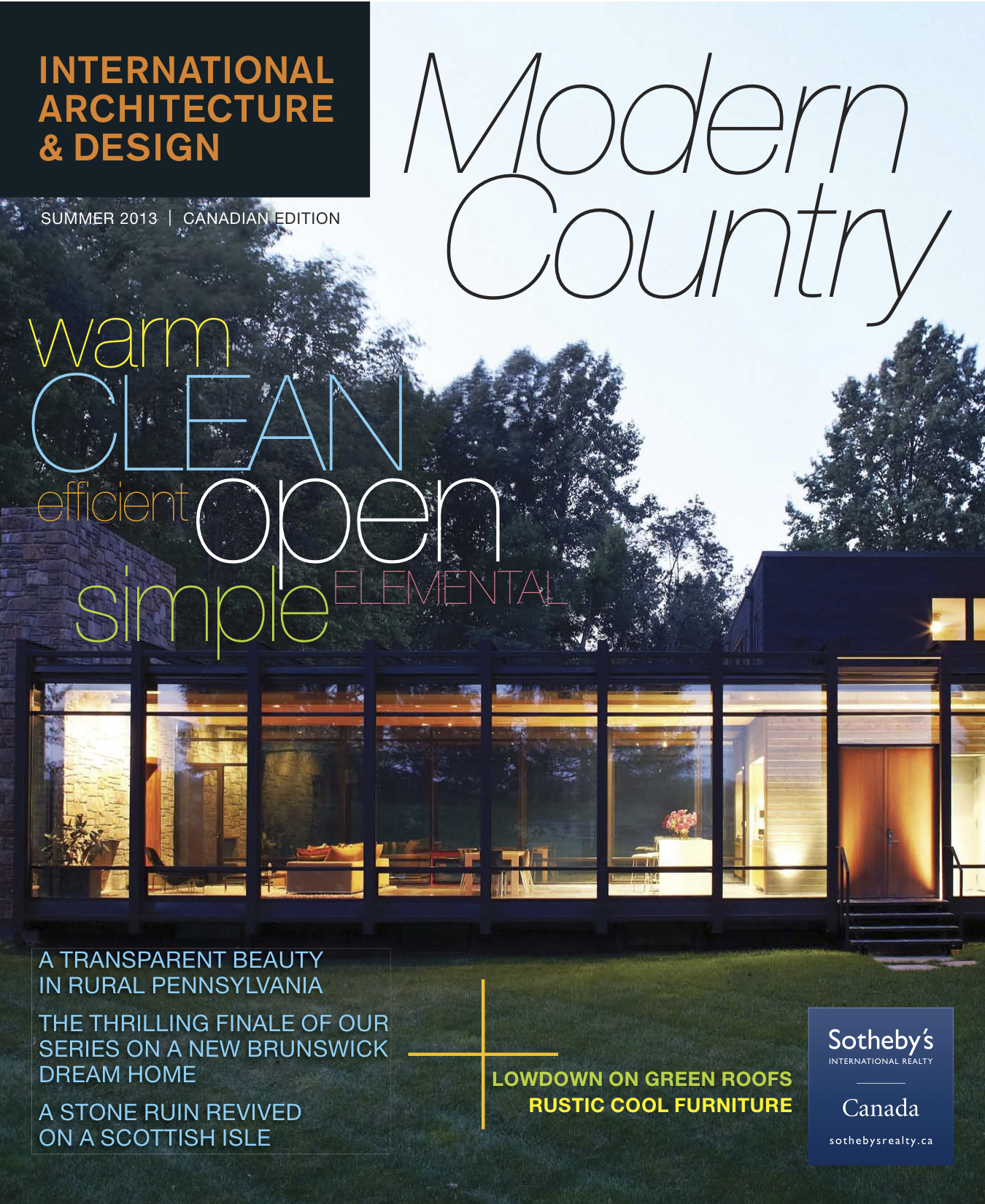 Saint john modern architecture featured in international for Designs magazine